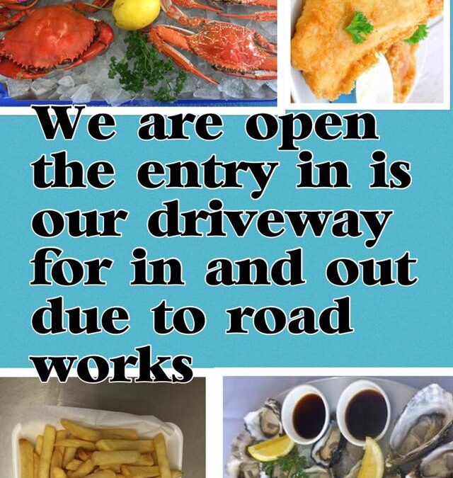 In and out due to road works